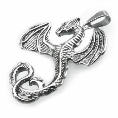 Prívesok drak z chirurgickej ocele (KPR091) - Klenotyn.sk 4e7df0ca5bd