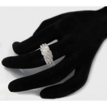 Strieborný prsteň so zirkónmi KPS116