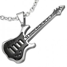 Prívesok gitara-Chirurgická Oceľ (KPR071)
