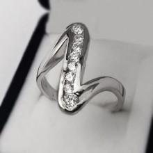 Strieborný prsteň KPS167