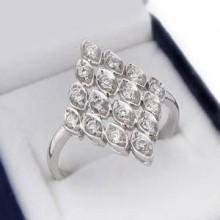 Luxusný strieborný prsteň (KPS124)
