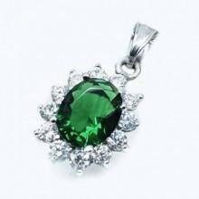 Prívesok sa smaragdovým kamienkom (KPR090)