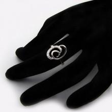 Moderný strieborný prsteň (KPS160)