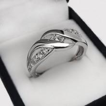 Moderný strieborný prsteň (KPS169)