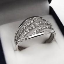 Moderný strieborný prsteň (KPS170)