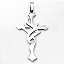 Prívesok kríž z chirurgickej ocele (KPR3)