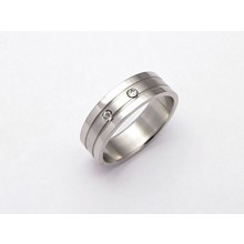 Dámsky prsteň z chirurgickej ocele (KPZ2)
