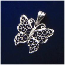 Strieborný prívesok motýľ (KPRS145)