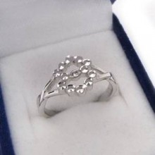 Strieborný prsteň KPS024