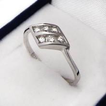 Strieborný prstienok KPS046