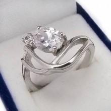 Strieborný prsteň KPS058