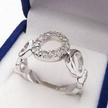 Strieborný prsteň KPS073