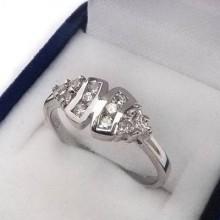 Strieborný prsteň KPS075