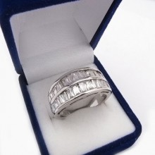Strieborný prsteň KPS078