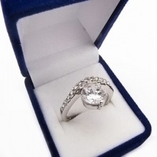 Strieborný prsteň KPS084