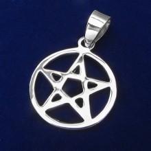 Prívesok pentagram - strieborný (KPRS050)