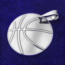 Strieborný prívesok basketbalová lopta (KPRS170)