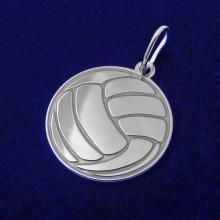 Strieborný prívesok volejbalová lopta (KPRS164)