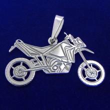 Prívesok terénne motorka - strieborný (KPRS047)