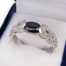 Strieborný prsteň KPS089