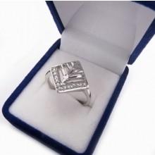 Strieborný prsteň KPS092