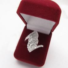 Strieborný prsteň KPS103