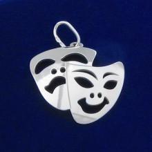 Strieborný prívesok herecká maska (KPRS169)
